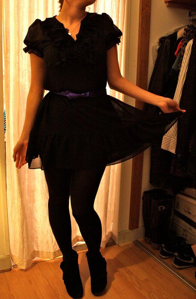 Robe noire glitter